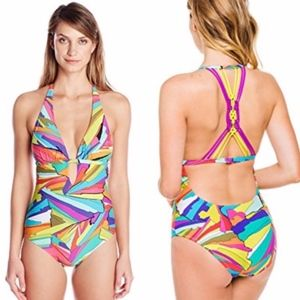 Trina Turk Viva La Vida one piece multi swimsuit